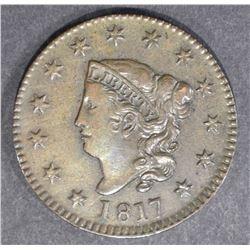 1817 LARGE CENT  AU/UNC  BROWN