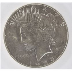1928 PEACE DOLLAR, AU/BU