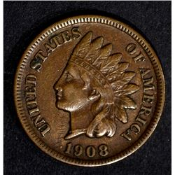 1908-S INDIAN CENT, XF