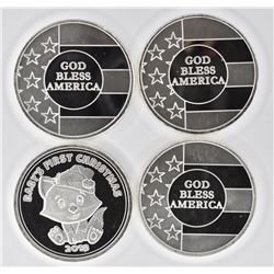 4-GOD BLESS AMERICA SILVER ROUNDS