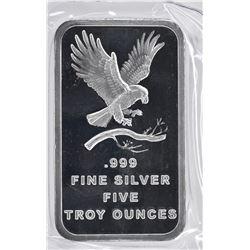 FIVE OUNCE .999 SILVER BAR ( SILVERTOWNE )