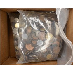OVER 20-POUNDS WELL MIXED FOREIGN COINS