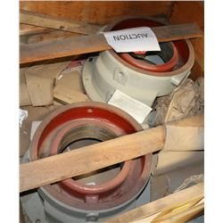 PAIR OF FLOWSERVE STUFFING BOXES