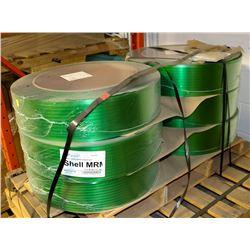 6 ROLLS OF PLASTIC BANDING, 6500 FT PER ROLL