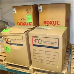 4 BOXES OF ASSORTED ROXUL PIPE INSULATION