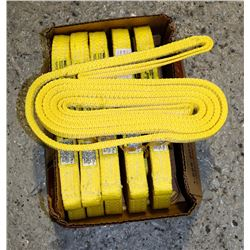 LOT OF 6 NYLON SLINGS, RATED FOR 3100LBS