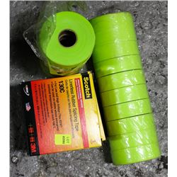 LOT OF RUBBER SPLICING TAPE AND MORE