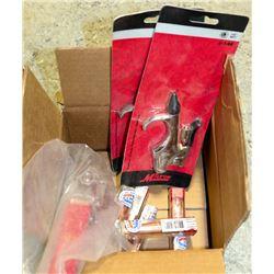 BOX WITH AIR NOZZEL ATTACHMENTS, FLOW SHUT OFF