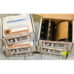 6 BOXES OF RIDGID COUPLINGS 2 PIECE CLAMP STYLE
