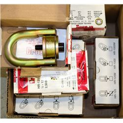 BOX OF 8 CROSBY HR-125 SWIVEL HOIST RINGS