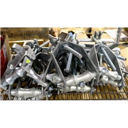 """LOT OF 15, 4"""" BEAM CLAMPS WITH PIPE HANGER"""
