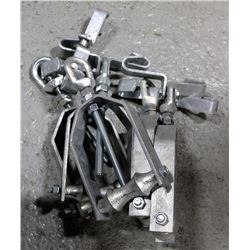 """BOX OF 5, 4"""" BEAM CLAMPS WITH PIPE HANGER"""