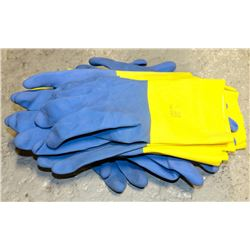 """10 PAIR OF ANSELL CHEMI-PRO FLOCKLINED 13"""" GLOVES"""