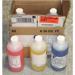 BOX OF 6 - 500ML BOTTLES OF BUFFER SOLUTION