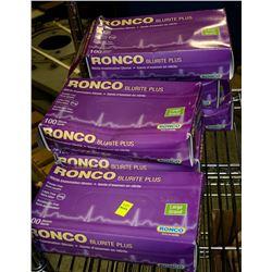 6 BOXES OF RONCO BLURITE PLUS NITRILE EXAM GLOVES