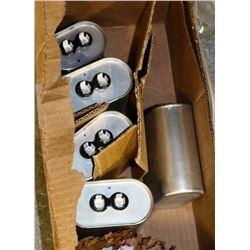 BOX OF 5 CDE CAPICITORS,  #SFD44S50K391B-F