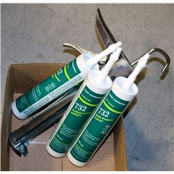 3 TUBES OF KTV 732 MULTI-PURPOSE SEALANT WITH A