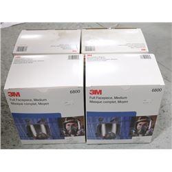 BOX OF 3M FULL FACEPIECE, MEDIUM (6800),