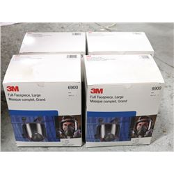 BOX OF 3M FULL FACEPIECE, LARGE (6900),