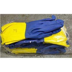 """12 PAIR OF ANSELL CHEMI-PRO FLOCKLINED 13"""" GLOVES"""