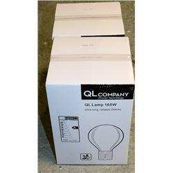 LOT OF 2  QL LAMP 165W, ULTRA LONG LIFETIME