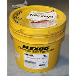 3L PAIL OF FLEXCO HD BOLT SOLID PLATE FASTNERS