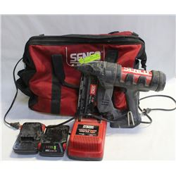 SENCO NAILER WITH CHARGER AND 3 BATTERIES