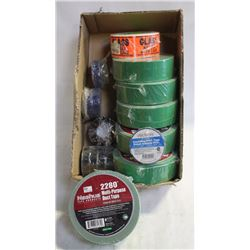 FLAT OF ASSORTED TAPE, MULTI-PURPOSE DUCT TAPE,