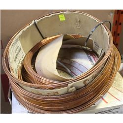 2 HALF ROLLS OF LINCOLN ELECTRIC COILED WELDING