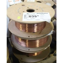 3 PARTIAL ROLLS OF AIR LIQUIDE COILED WELDING WIRE