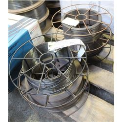 4 PARTIAL ROLLS OF ASSORTED COILED WELDING WIRE