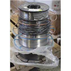 4 ROLLS OF ASSORTED COILED WELDING ELECTRODE