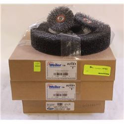 6 NEW VARIOUS-SIZED CRIMPED WIRE WHEELS