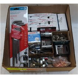 LOT OF ASSORTED COMMERCIAL HOLESAWS, JET HEX-KEY