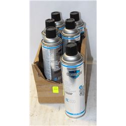 6 CANS OF SPRAYON CLEAR INSULATING VARNISH