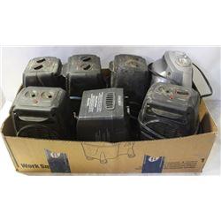 BOX OF SEVEN 120V HEATERS