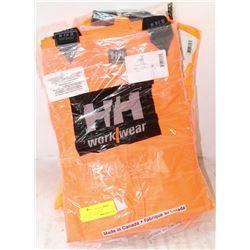 2 NEW HH HI-VIZ TOP DECK SUPERVISORS COAT, LARGE