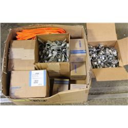 LARGE BOX OF VARIOUS SIZED- BAND-IT BUCKLES