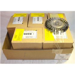 "5 CASES(20) FELTON 6"" KNOTTED BRUSH WHEELS"