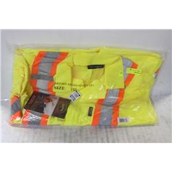 2 NEW PIONEER 5XL HI-VIZ TRAFFIC COVERALLS