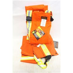GROUP OF 2 FIREWALL FR HI-VIZ BIB OVERALLS