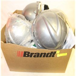 BOX OF VARIOUS NEW HARDHATS & LINERS