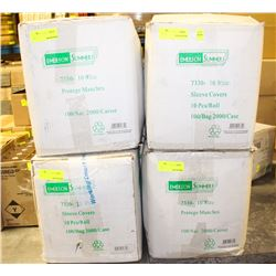 4 CASES (8000) WHITE SLEEVE COVERS