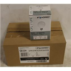 CASE(6) OF STANDARD 9W G25 BULBS