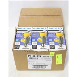 2 BOXES PHILIPS (10 TOTAL) A21 15W LED LIGHTBULBS