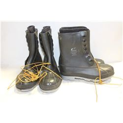 2 NEW PAIRS OF ONGUARD STEEL TOE RUBBER BOOT