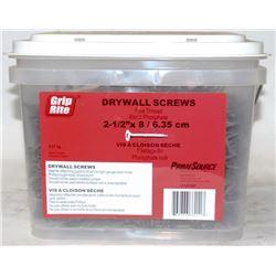 "PAIL OF GRIP-RITE DRYWALL SCREWS 2-1/2"" X 8"