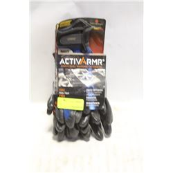 GROUP OF 2 NEW ANSELL ACTIVARMR H-VAC GLOVES