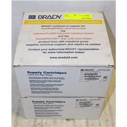 2 BOXES OF BRADY LABELIZER PLUS LABELS