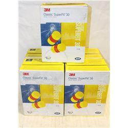 5 BOXES OF SUPERFIT EARPLUGS